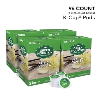 Green Mountain Coffee Roasters French Vanilla Coffee, Keurig® K-Cup® Pods, Light Roast, 96/Carton (6732)