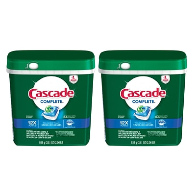 Cascade® Complete™ ActionPacs™ Dishwasher Detergent, Fresh Scent, 63/Pack; 2 Packs, 126 Total Pods