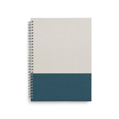 TRU RED™ Medium Hard Cover Ruled Notebook, Gray/Teal (TR55741)
