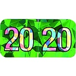 Medical Arts Press® Holographic End-Tab Year Labels, 2020, Green
