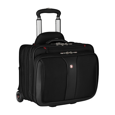 Wenger Patriot Rolling 2-Piece Business Set Laptop Rolling Briefcase, Black Polyester (WA-7953-02F00)