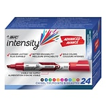 BIC Intensity Advanced Dry Erase Marker, Tank Style, Chisel Tip, Assorted Colors, 24/Pack (GELITP241