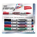 BIC Intensity Advanced Dry Erase Marker, Bullet Tip, Assorted Colors, 4/Pack (GELIPP41AST)
