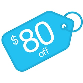 $80 off with $1000 order