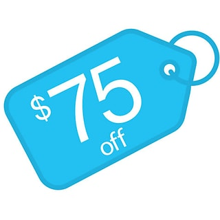 $75 off with $750 order