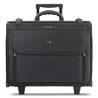 Solo New York Midtown Collection Morgan Laptop Rolling Briefcase, Black Polyester (B151-4)