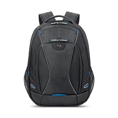 Solo New York Ascend Backpack, Solid, Black/Blue (TCC703)