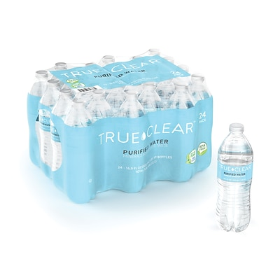 True Clear™ Purified Bottled Water, 16.9 fl. oz. Bottles, 24/Carton (TC54594)