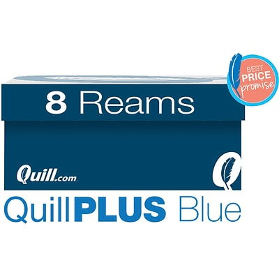 QuillPLUS Quill Brand® 8 1/2 x 11 Multipurpose Copy Paper, 20 lbs., 94 Brightness, 8 Reams/CT (820888CT)