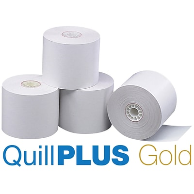 QuillPLUS Quill Brand® Thermal Cash Register/POS Rolls, 50/CT, 1-Ply, 2-1/4 x 80