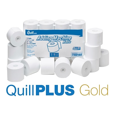 00ea0bd9cf2f3 QuillPLUS Quill Brand® Bond Cash Register Rolls, 12 Pack, 1-Ply, 3