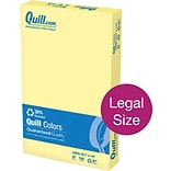 Quill Brand® 30% Recycled Multipurpose Paper, 20 lbs., 8.5 x 14, Canary Yellow, 500 sheets/Ream (7