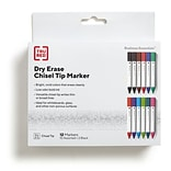 TRU RED™ Tank Dry Erase Markers, Chisel Tip, Assorted, 12/Pack (TR54567)