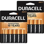 BOGO Duracell® Coppertop® AA Alkaline Batteries, 10/Pack