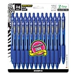 Zebra Pen Z-Grip Retractable Ballpoint Pens, Medium Point, Blue Ink, 24 Pack (12225)