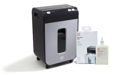 TRU RED™ 12-Sheet Micro-Cut Personal Shredder, Oil & Bags - Special Offer!