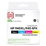 TRU RED™ Remanufactured Cyan/Color High Yield Standard Yield Ink Cartridge Replacement for HP 940XL/