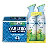 Buy 1 carton of Quilted Northern® Bathroom Tissue, get 1 pack of Febreze AIR Freshener FREE