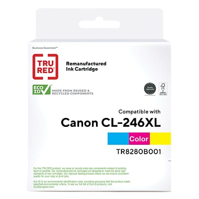 TRU RED™ Remanufactured Tri-Color High Yield Ink Cartridge Replacement for Canon CL-246XL (8280B001)