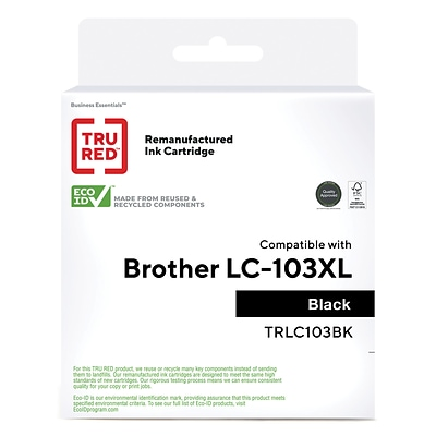 TRU RED™ Brother (LC103XL) Black Remanufactured High Yield Ink Cartridge