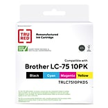 TRU RED™ Remanufactured Black/Cyan/Magenta/Yellow High Yield Ink Cartridge Replacement for Brother L