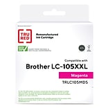 TRU RED™ Brother (LC105M) Magenta Remanufactured Extra High Yield Ink Cartridge