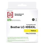 TRU RED™ Brother (LC105Y) Yellow Remanufactured Extra High Yield Ink Cartridge