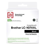 TRU RED™ Remanufactured Black Extra High Yield Ink Cartridge Replacement for Brother LC107BK (LC107B
