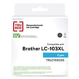 TRU RED™ Brother (LC103XL) Cyan Remanufactured High Yield Ink Cartridge