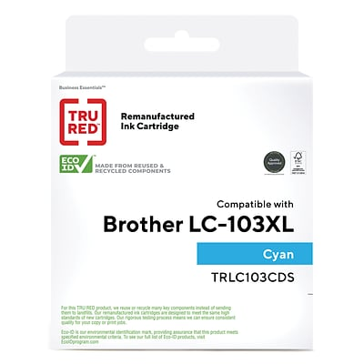 TRU RED™ Remanufactured Cyan High Yield Ink Cartridge Replacement for Brother (LC103XL)