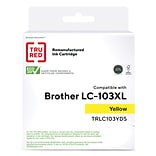 TRU RED™ Brother (LC103XL) Yellow Remanufactured High Yield Ink Cartridge