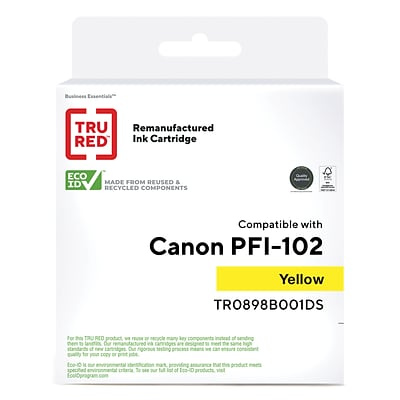 TRU RED™ Remanufactured Yellow Standard Yield Ink Cartridge Replacement for Canon PFI-102Y (0898B001)