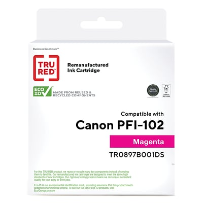 TRU RED™ Canon PFI-102M (0897B001) Magenta Remanufactured Standard Yield Ink Cartridge