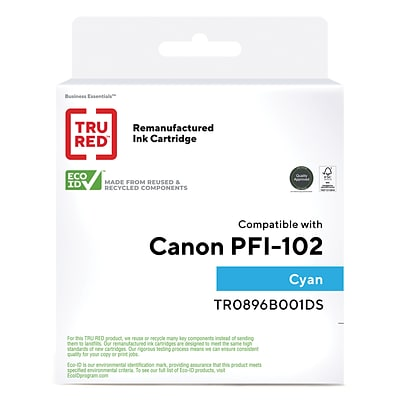 TRU RED™ Remanufactured Cyan Standard Yield Ink Cartridge Replacement for Canon PFI-102C (0896B001)