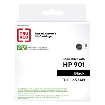 TRU RED™ Remanufactured Black Standard Yield Ink Cartridge Replacement for HP 901 (CC653AN)