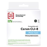 TRU RED™ Remanufactured Cyan Standard Yield Ink Cartridge Replacement for Canon CLI-8PC (0624B002)