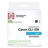 TRU RED™ Remanufactured Cyan Standard Yield Ink Cartridge Replacement for Canon CLI-251C (6514B001)