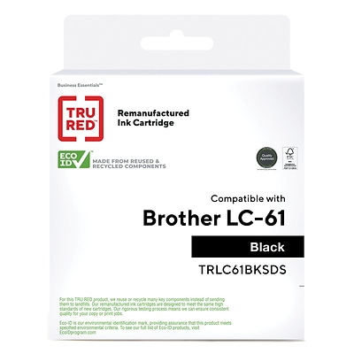 TRU RED™ Remanufactured Black Standard Yield Ink Cartridge Replacement for Brother LC61BK (LC61BKS)