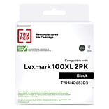 TRU RED™ Remanufactured Black High Yield Ink Cartridge Replacement for Lexmark (100), 2/Pack