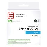 TRU RED? Brother (LC79C) Cyan Remanufactured Extra High Yield Ink Cartridge