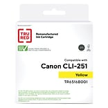 TRU RED™ Canon CLI-251Y (6516B001) Yellow Remanufactured Standard Yield Ink Cartridge