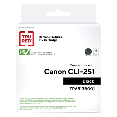 TRU RED™ Remanufactured Black Standard Yield Ink Cartridge Replacement for Canon CLI-251BK (6513B001)