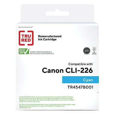 TRU RED™ Remanufactured Cyan Standard Yield Ink Cartridge Replacement for Canon CLI-226C (4547B001)