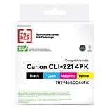 TRU RED™ Remanufactured Black/Cyan/Magenta/Yellow Standard Yield Ink Cartridge Replacement for Canon