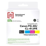 TRU RED™ Remanufactured Black/Tri-Color Standard Yield Ink Cartridge Replacement for Canon PG-40/CL-