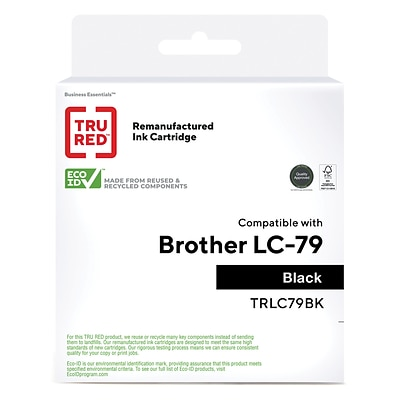 TRU RED™ Remanufactured Black Extra High Yield Ink Cartridge Replacement for Brother LC79BK (LC79BK)