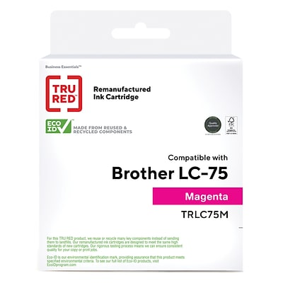 TRU RED™ Remanufactured Magenta High Yield Ink Cartridge Replacement for Brother LC75M (LC75M)