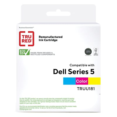 TRU RED™ Remanufactured Tri-Color High Yield Ink Cartridge Replacement for Dell Series 5 (UU181)