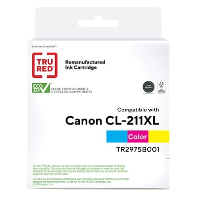 TRU RED™ Canon CL-211XL (2975B001) Color Remanufactured High Yield Ink Cartridge