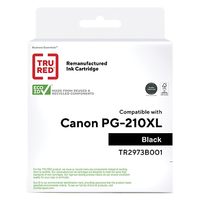 TRU RED™ Canon PG-210 XL (2973B001) Black Remanufactured High Yield Ink Cartridge